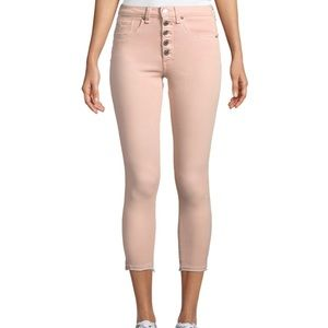 Veronica Beard Debbie Button-Fly Cropped Jeans